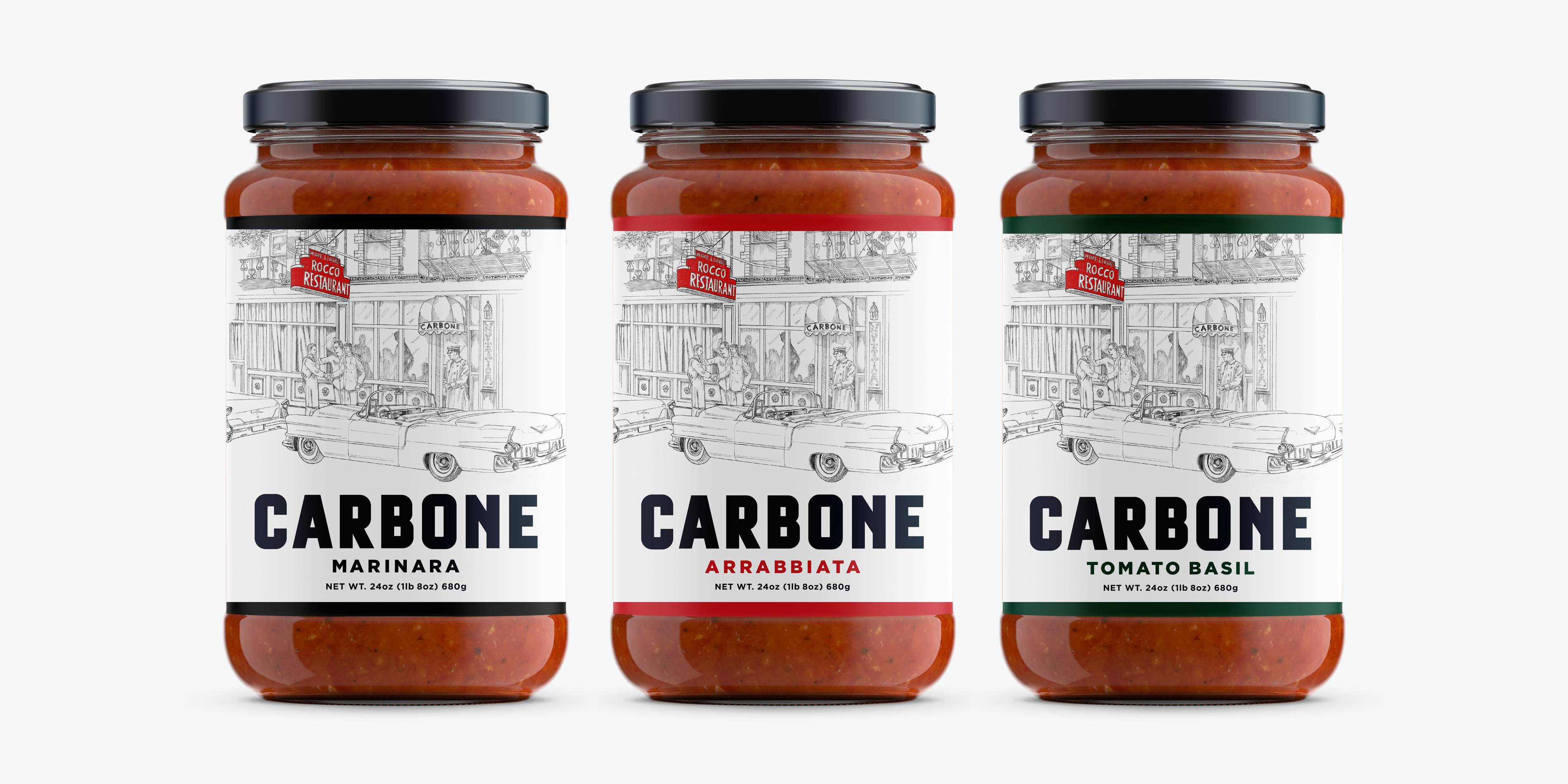 Carbone Fine Food presents Carbone original pasta sauces