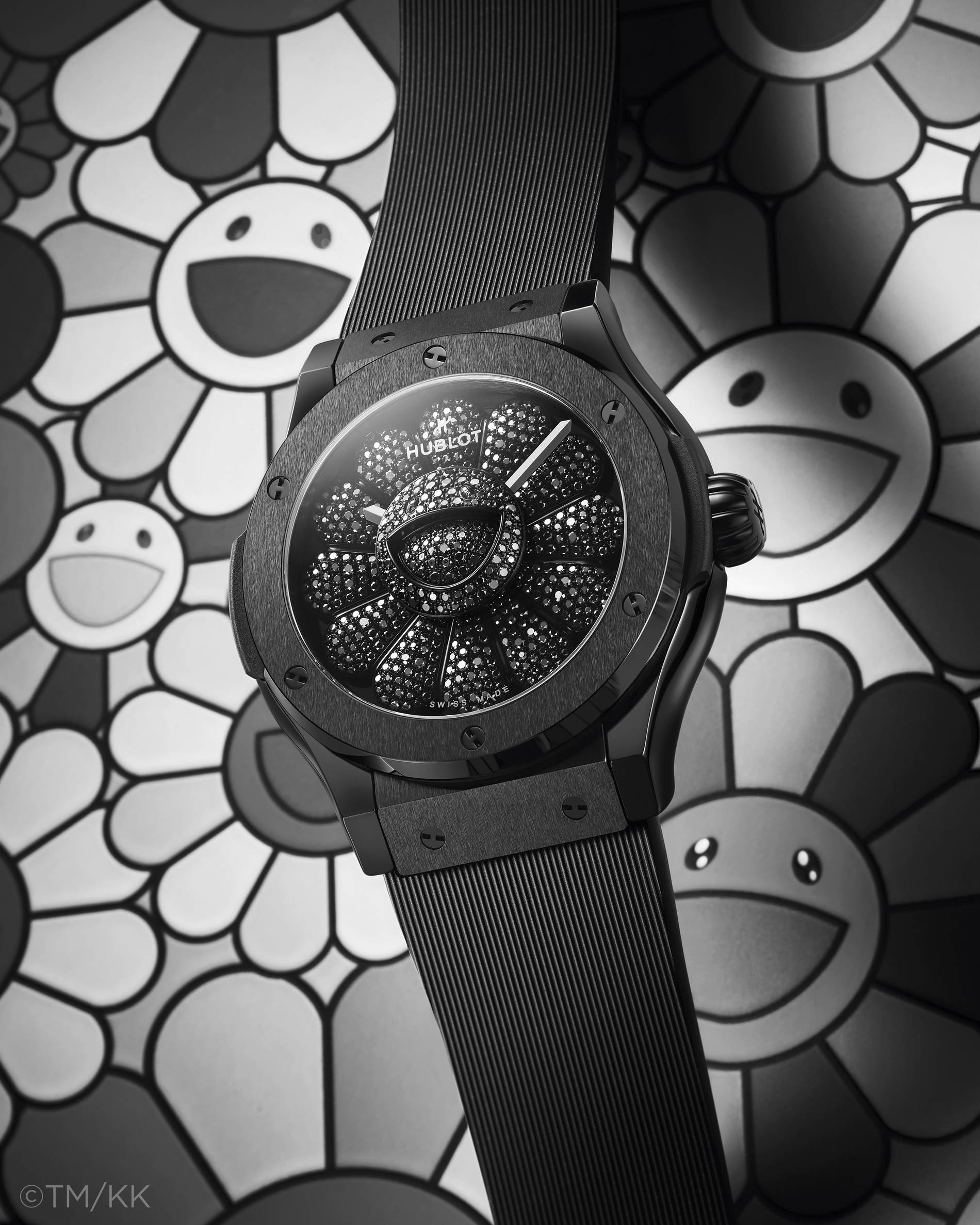 Takashi Murakami and Hublot's Classic Fusion All Black Timepiece