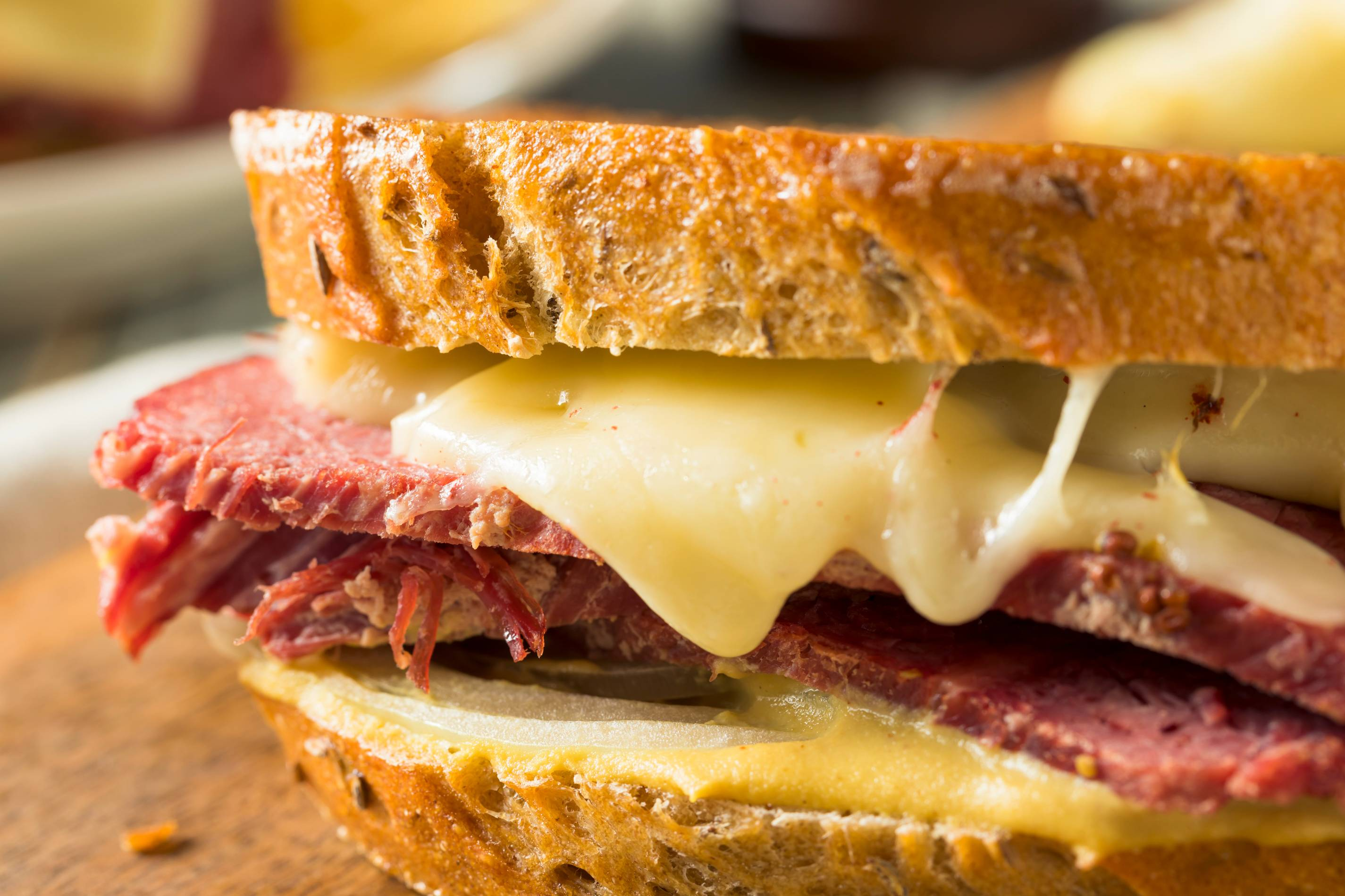 Corned Beef and Sauerkraut Grilled Cheese by Andrea Correale