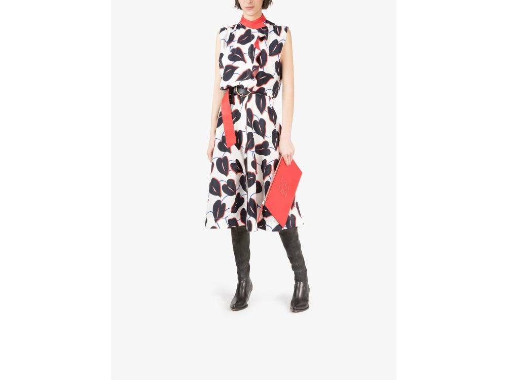 Givenchy_Printed_Dress_with_Ruffles