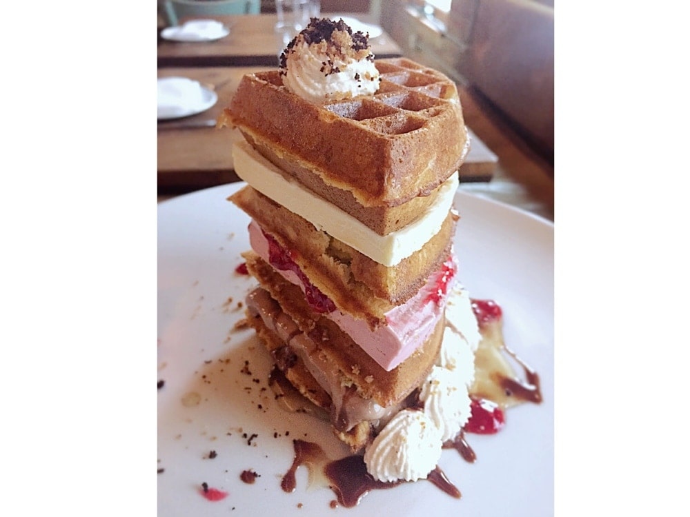 Waffle tower at Catch.