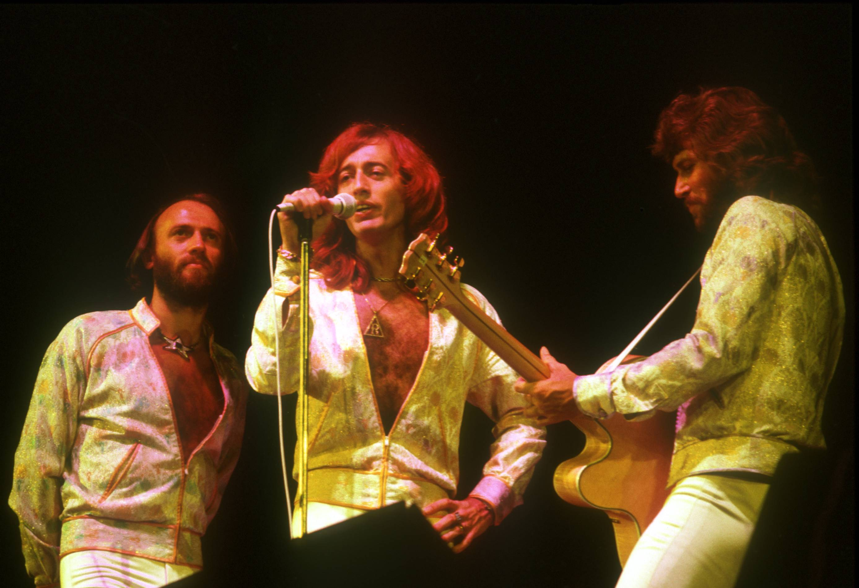 Bee Gees on stage in 1970