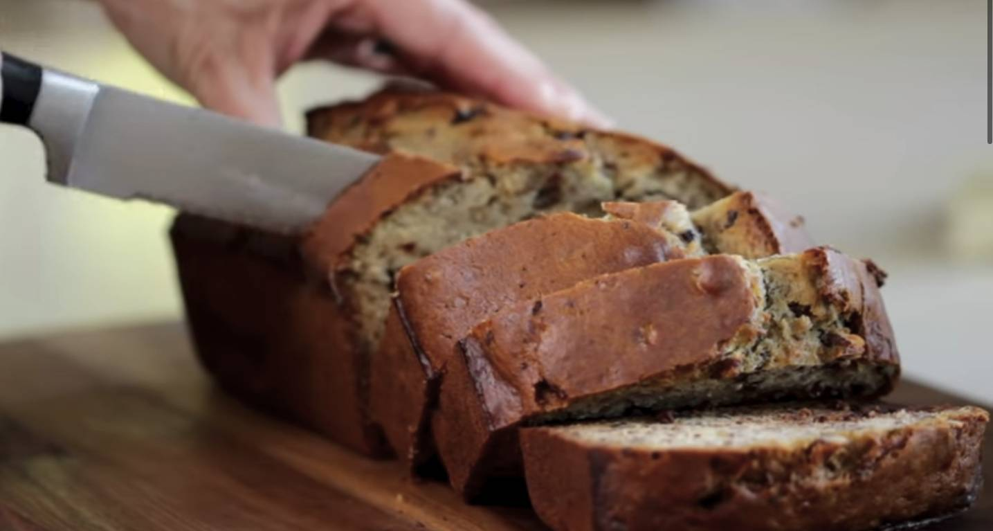 Beth Le Manach's Ultimate Banana Bread with chocolate chips and pecans