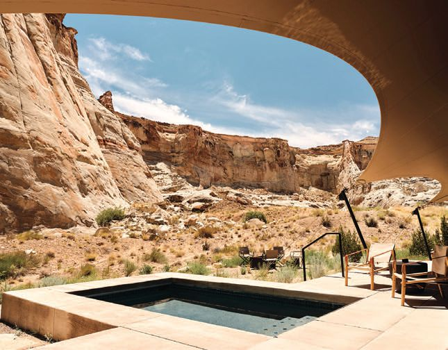 """Each pavilion has a heated plunge pool and highlights a """"very thin separation between nature and construction,"""" says general manager Julien Surget PHOTO COURTESY OF AMAN"""