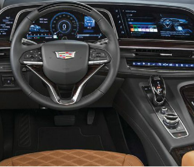 A 38-inch curved OLED screen puts comprehensive trip info at your fingertips PHOTO COURTESY OF CADILLAC