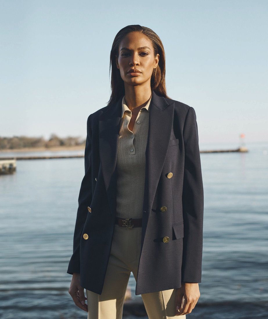 Supermodel Joan Smalls in Lauren Ralph Lauren spring/summer 2021 collection PHOTO COURTESY OF BRAND