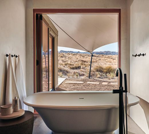 Pavilion bathrooms are equipped with deep-soaking tubs PHOTO COURTESY OF AMAN