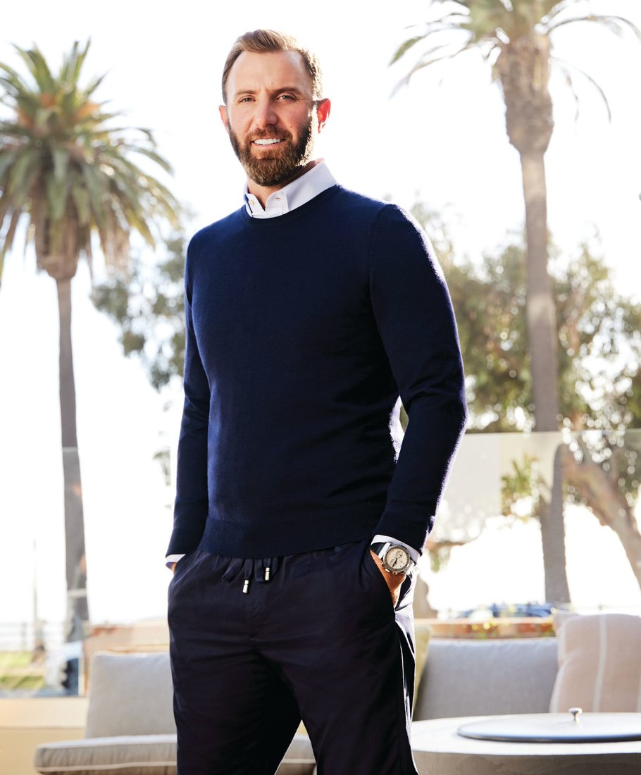 Gucci shirt, gucci.com; Hugo Boss sweater, hugoboss.com; AG Jeans jeans, agjeans.com; Hublot Classic Fusion Chronograph Titanium Opalin watch, hublot.com. Photographed by Greg Hinsdale Styled by Linda Medvene Shot on location at Fairmont Miramar Hotel & Bungalows, Santa Monica, Calif.
