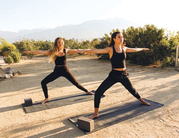 Morning yoga and meditation classes start the day off right PHOTO COURTESY OF WE CARE SPA