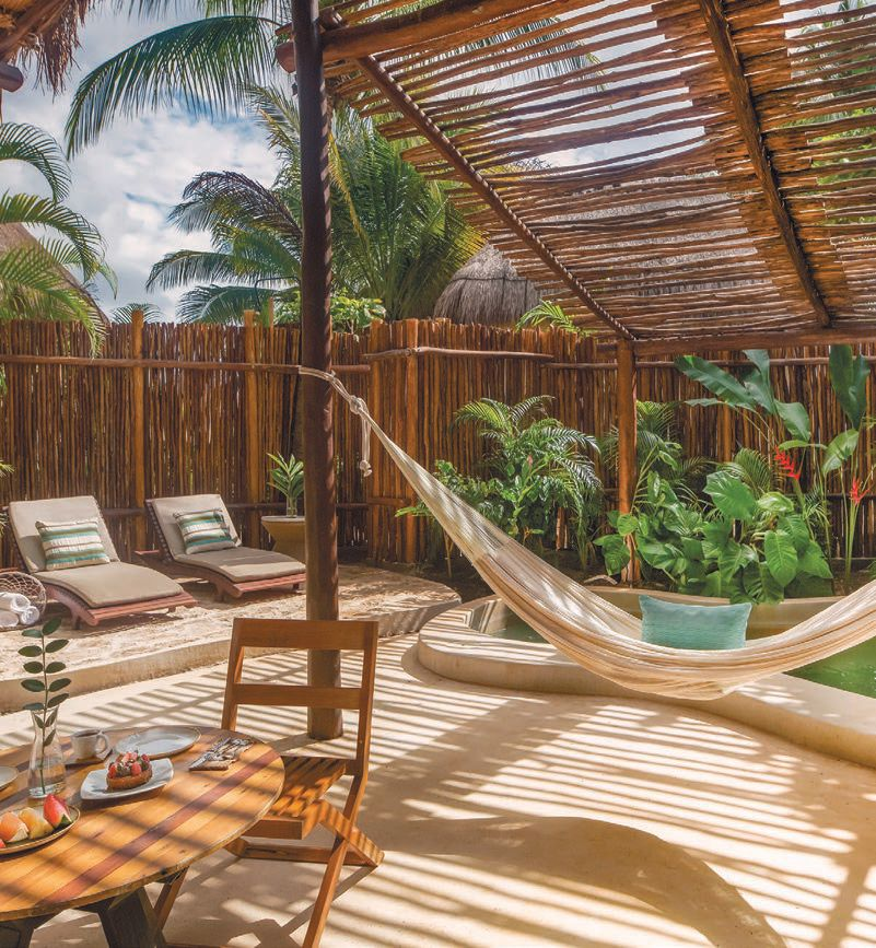 Each villa at Viceroy Riviera Maya has its own patio, plunge pool, outdoor shower, thatched palapa and handcrocheted hammock. VICEROY RIVIERA MAYA PHOTO COURTESY OF BRAND