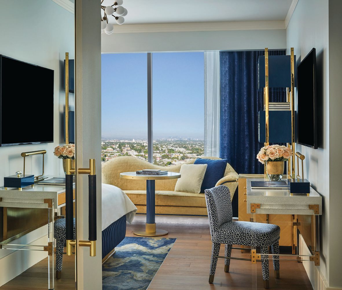 Expansive views and eye-catching design by Martin Brudnizki dominate the 149 rooms at Pendry West Hollywood  PHOTO COURTESY OF PENDRY WEST HOLLYWOOD
