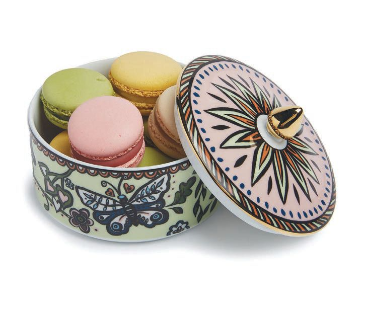 A goodie jar is perfectly sized to stash Ladurée's signature sweets. PHOTO COURTESY OF BRAND