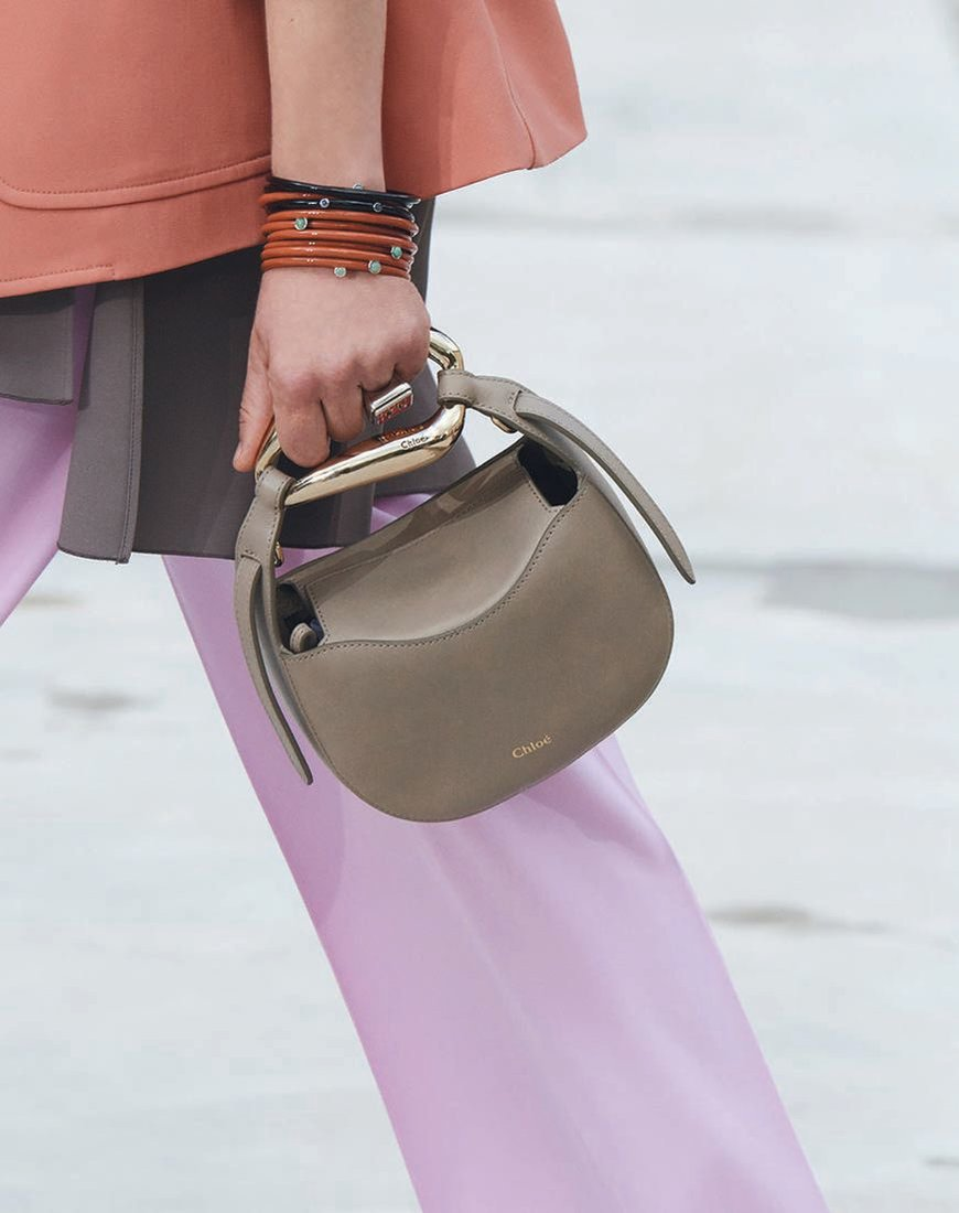Chloé Kiss Motty Grey leather bag, chloe.com PHOTO COURTESY OF BRANDS