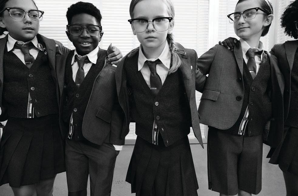 Looks from Thom Browne's inaugural childrenswear collection THOM BROWNE PHOTO BY CASS BIRD