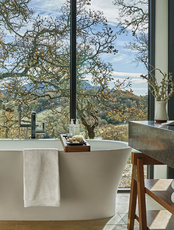 Bathrooms at the resort include deep-soaking tubs and luxe products from California-based GlossModerne PHOTO BY CHRISTIAN HORAN