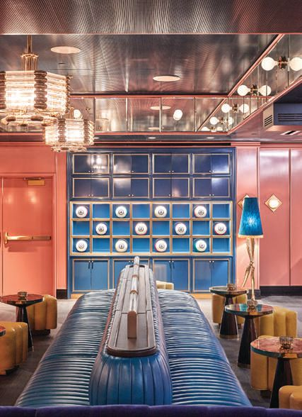 Hotel guests have access to on-site private club The Britely's chic bowling alley. PHOTO BY YE RIN MOK FOR THE BRITELY