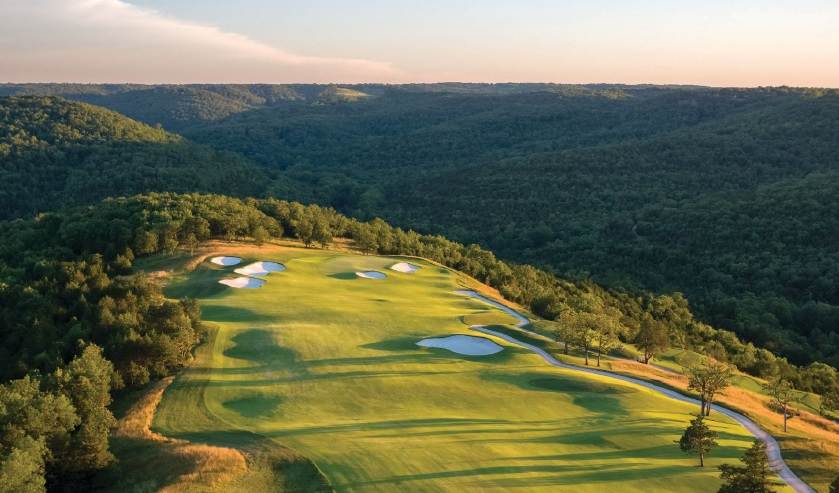 The 1st hole on Payne's Valley Golf Course, which is the first Tiger Woods-designed course open to the public. PHOTO COURTESY OF PAYNE'S VALLEY GOLF COURSE