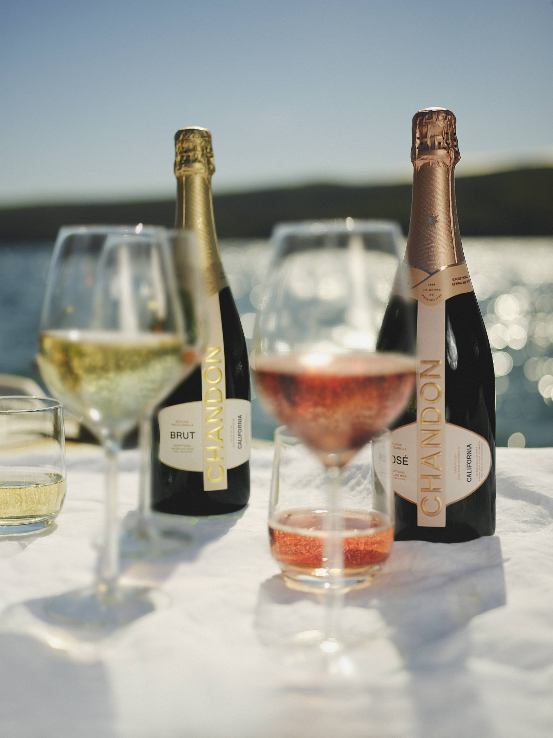 Chandon Brut and Rose new bottle 2021