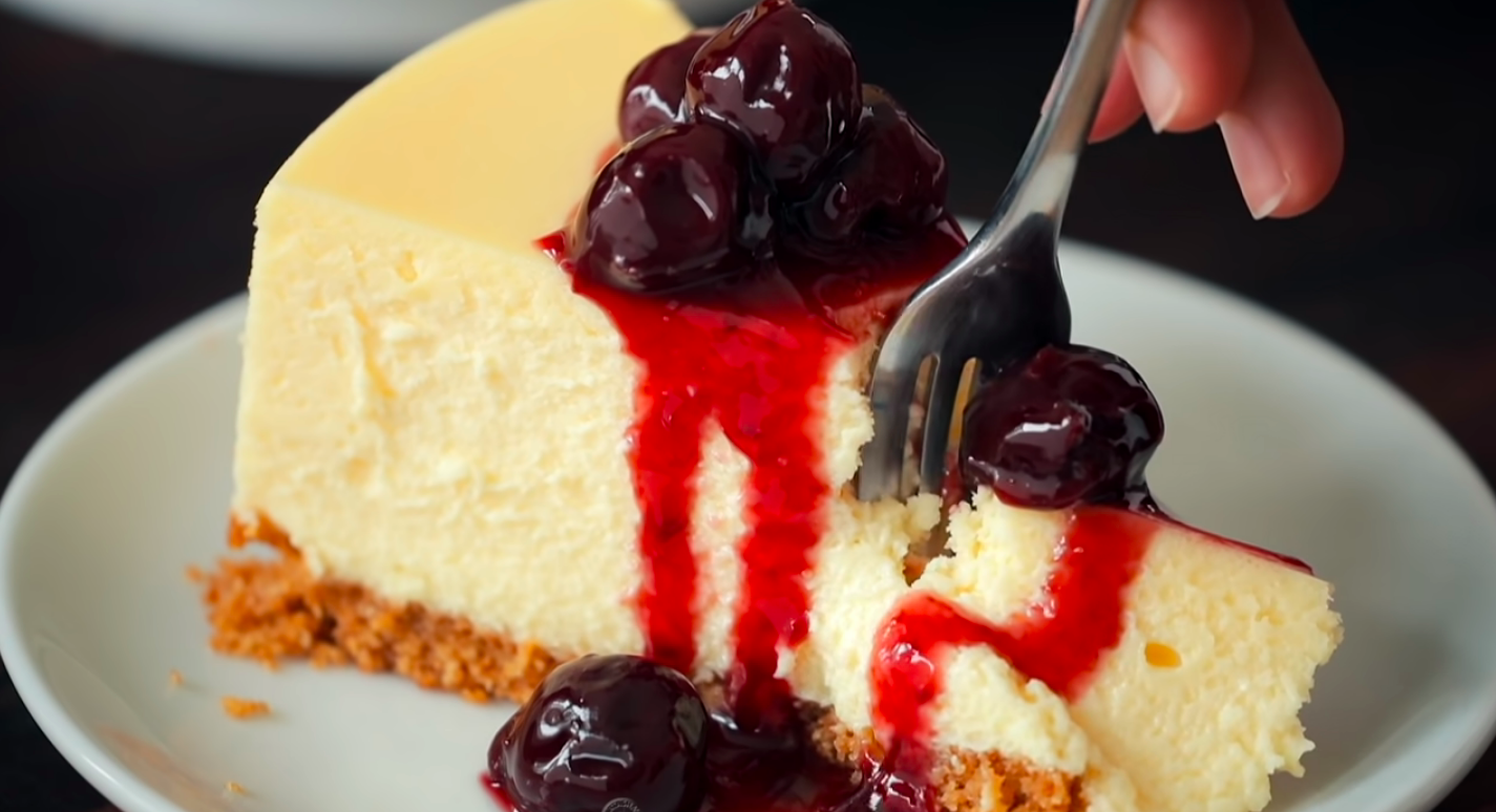 cheesecake cherry sauce natasha's kitchen