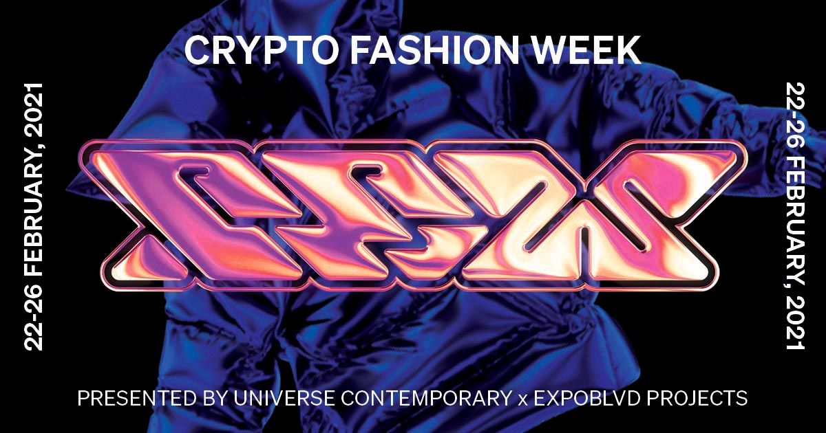 Crypto Fashion Week flyer