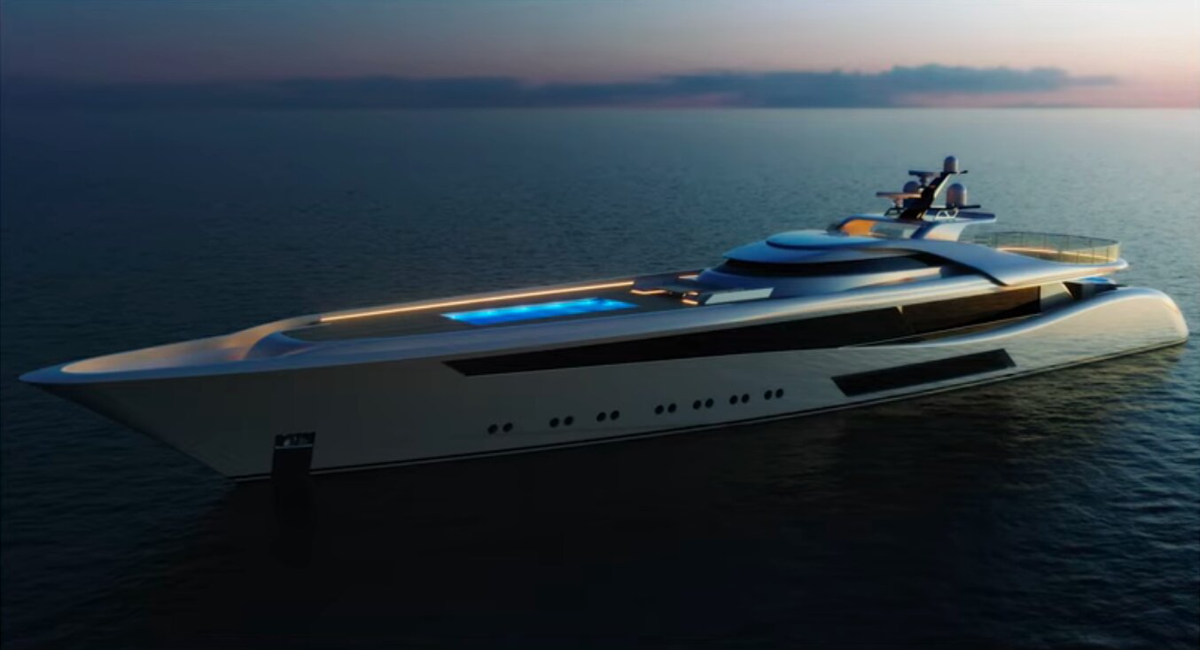 Feadship's sleek Project 3073 custom yacht