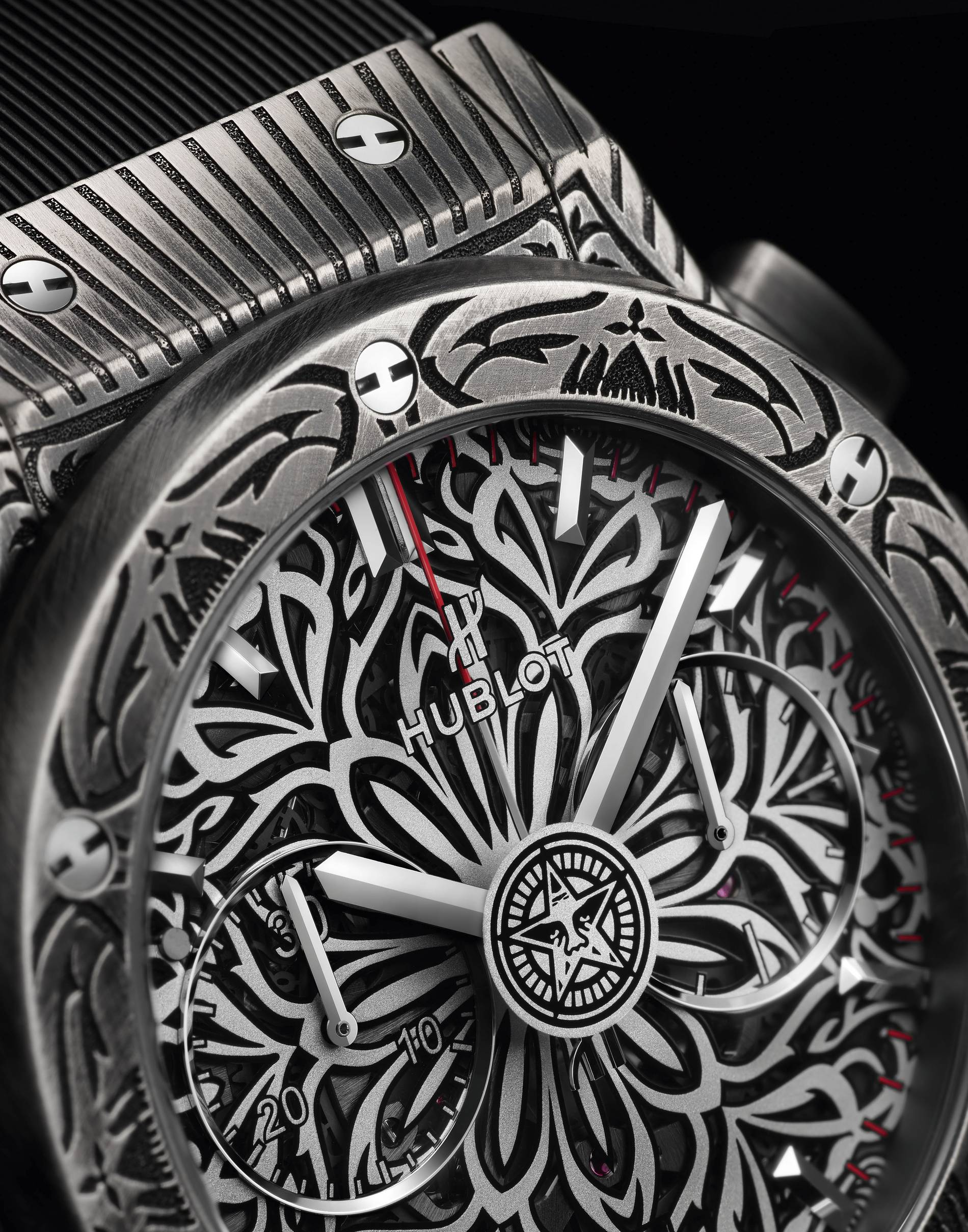 Hublot Shepard Fairey watch collaboration close up