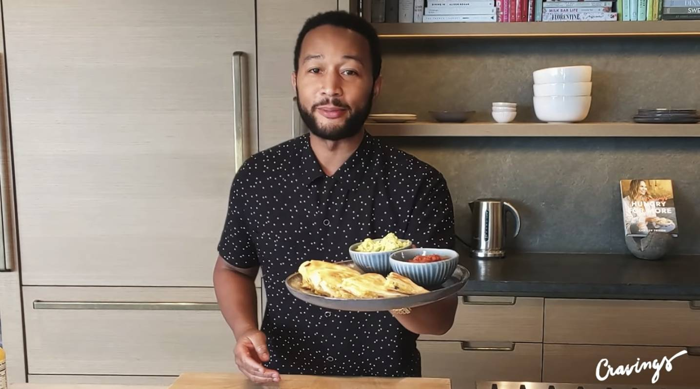 John Legend's Crispy Bacon, Avocado and Egg Quesadilla