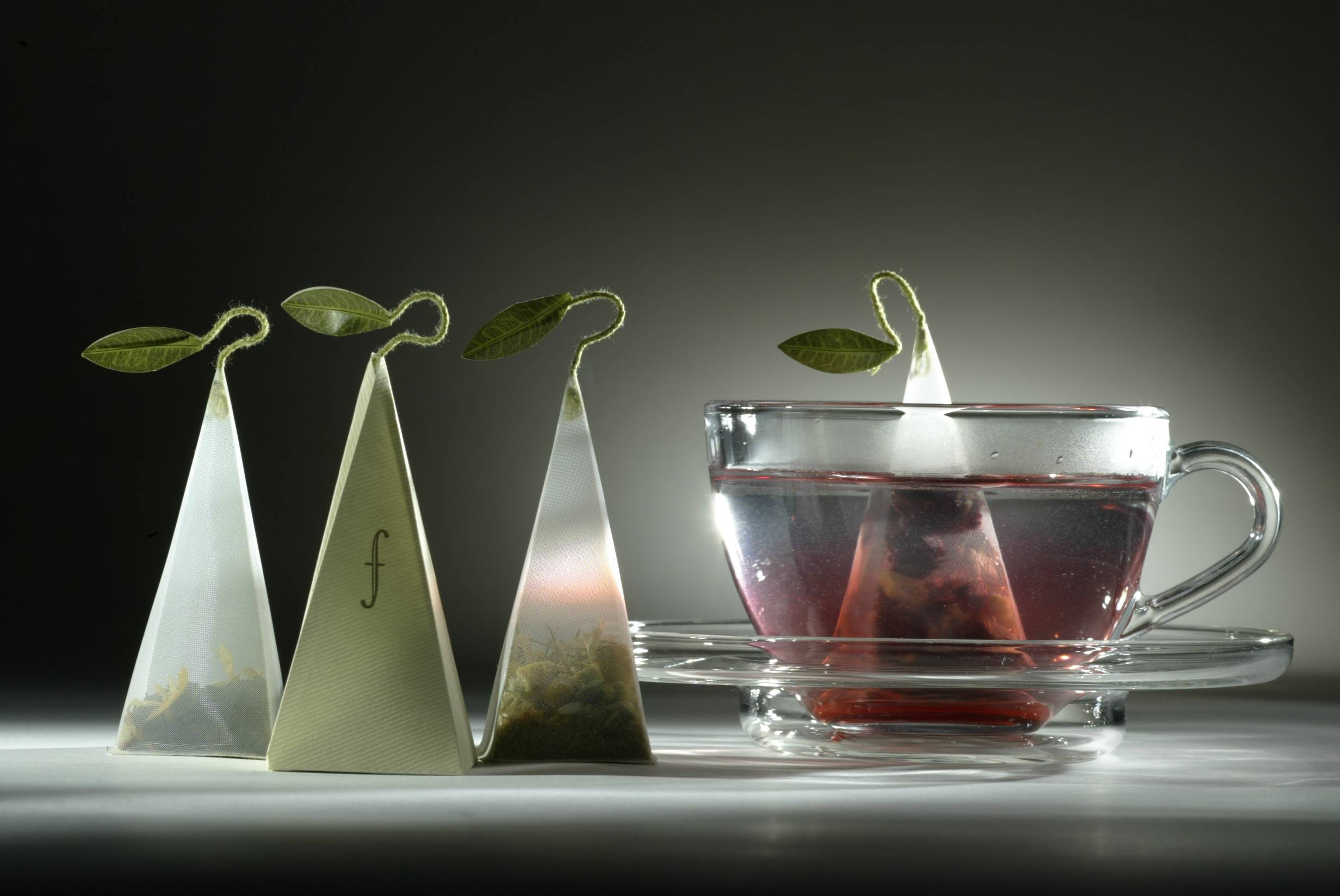 Tea Forte creates special pyramid-shape bags for a smoother taste