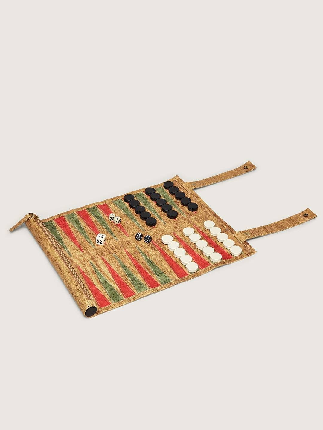 okapi travel backgammon board