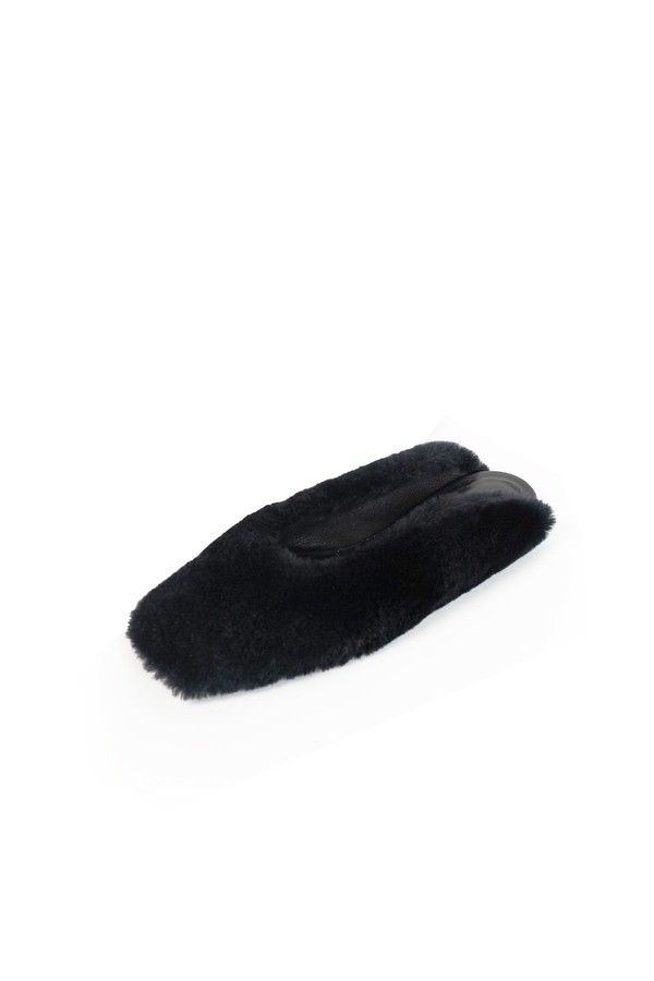 rosetta getty shearling laofer slides