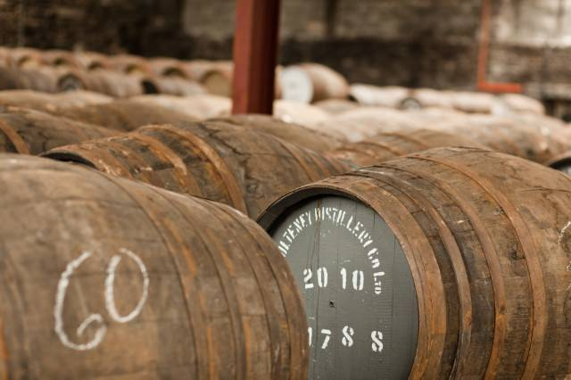 Scotch Whiskey barrels