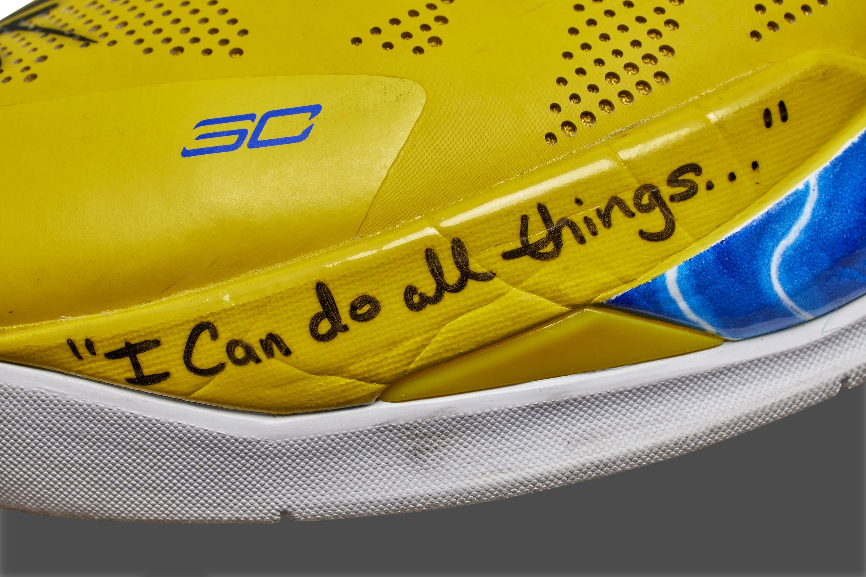 steph curry sneakers sothebys signed
